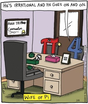 View joke - He is irrational and he goes on and on. Wife of PI